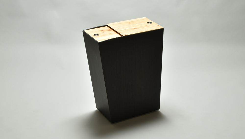 ひのき張りサイドテーブルBOX 45L